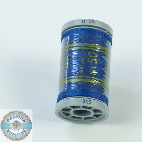 Presencia Cotton Quilting Thread 50wt 500m Colour 319 Blue