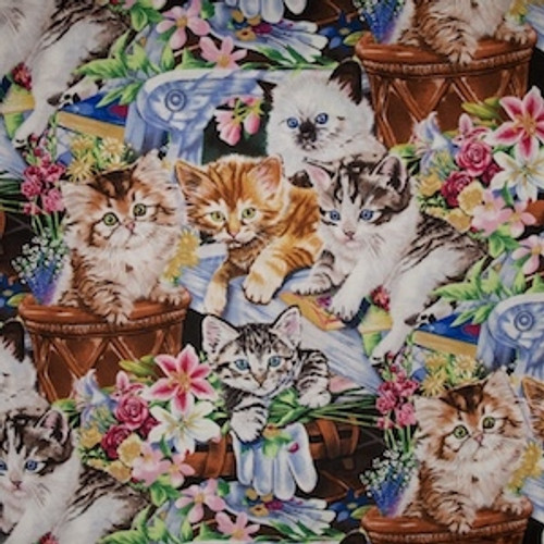 Cats among the Flowers  per 25cm