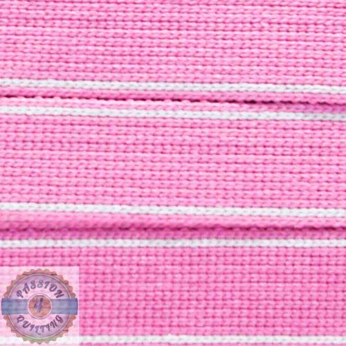 Lacca Pink Cotton Blend Webbing. Per metre