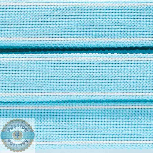 Light Aqua Cotton Blend Webbing. Per metre