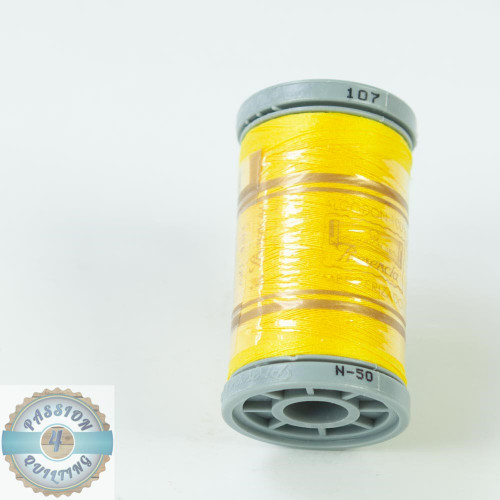 Presencia Cotton Quilting Thread 50wt 500m Colour 107 Yellow