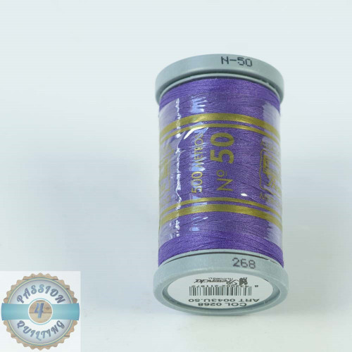 Presencia Cotton Quilting Thread 50wt 500m Colour 268 Blue