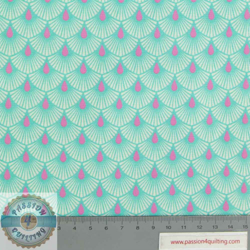 Tula Pink Serenity Cotton Candy Teal per 25cm