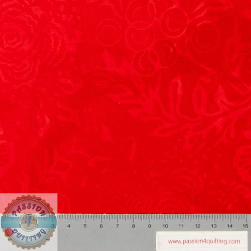 Batik Art sunflowers & roses red 210Q-7 per 25cm