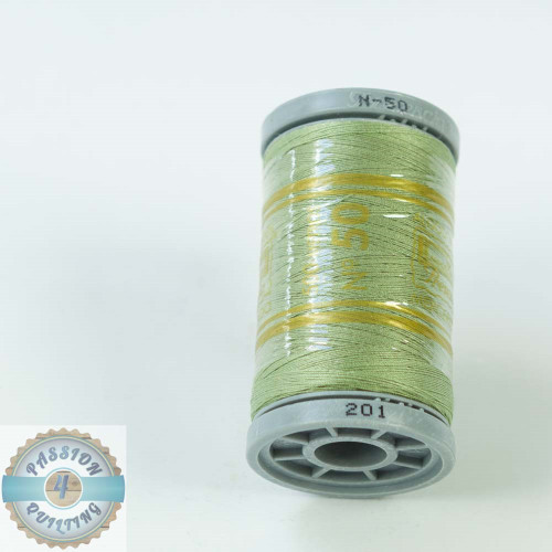 Presencia Cotton Quilting Thread 50wt 500m Colour 201 Moss Green
