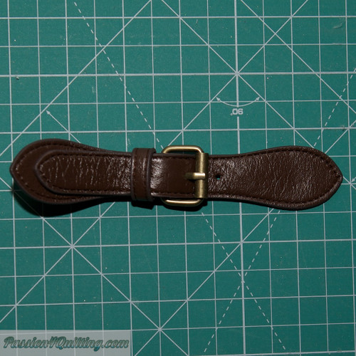 Leather Brown buckle with straps