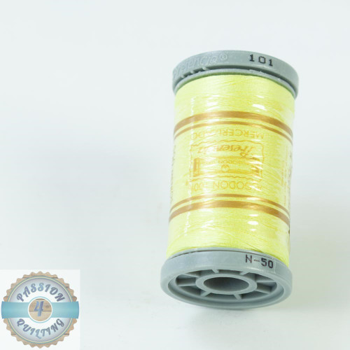 Presencia Cotton Quilting Thread 50wt 500m Colour 101 Lemon