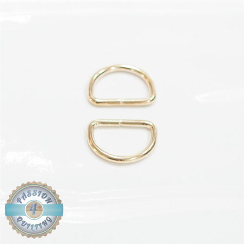Gold D ring 25mm pair
