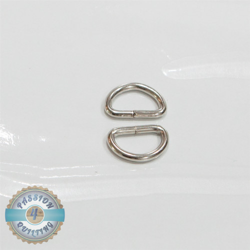 Silver D ring 19mm pair
