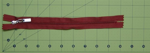 Handbag zipper Rust Brown 26cm