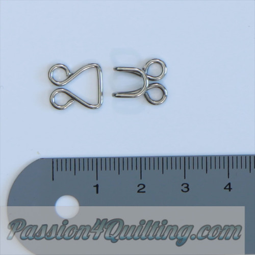 Hook & eye set silver or Gold 5 pieces