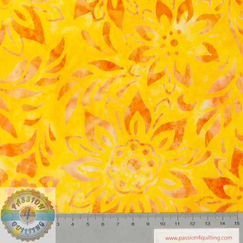 Batik Yellow- Orange 215Q-3  per 25cm