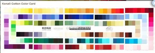 Colour chart Kona Bay Solid Shade Card