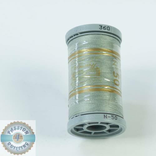 Presencia Cotton Quilting Thread 50wt 500m Colour 360 Light Grey