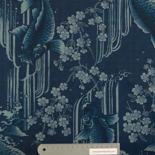 Koi Kaiten Indigo blue  per 25cm