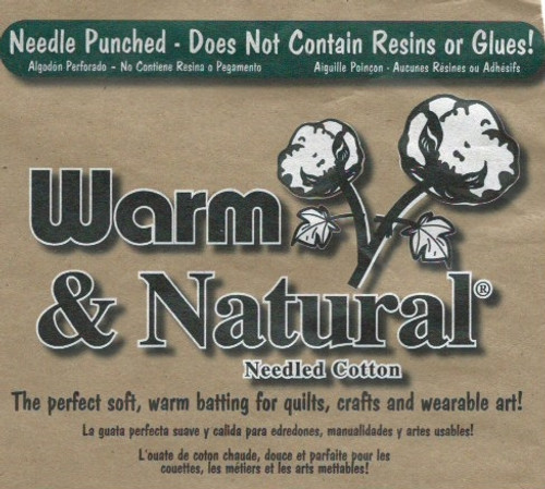 "Warm and Natural Cream Cotton Wadding--Batting 90"" wide per 25cm"