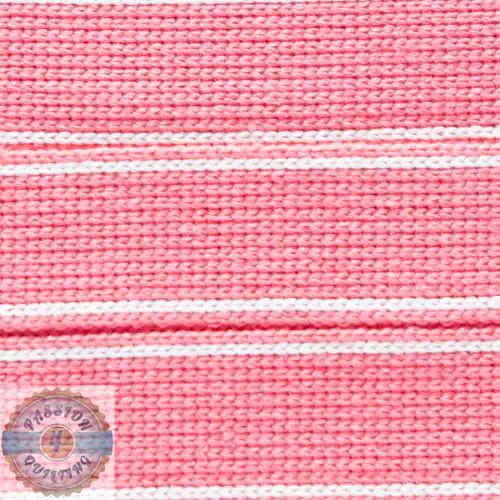 Warm Coral Cotton Blend Webbing. Per metre