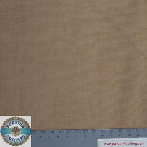 Tan plain cotton. per 25cm