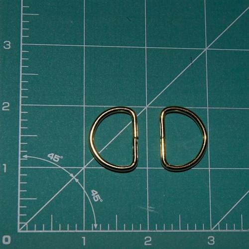 Gold 25mm D Rings Pair