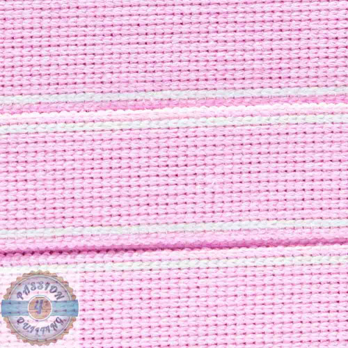Pastel Pink Cotton Blend Webbing. Per metre