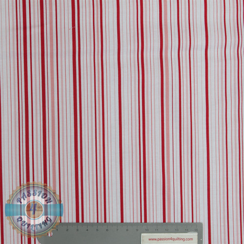 Stripe 49997 red  by Judy Niemeyer per 25cm