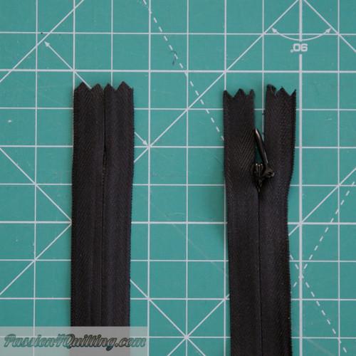 Zipper Invisible 25cm Black