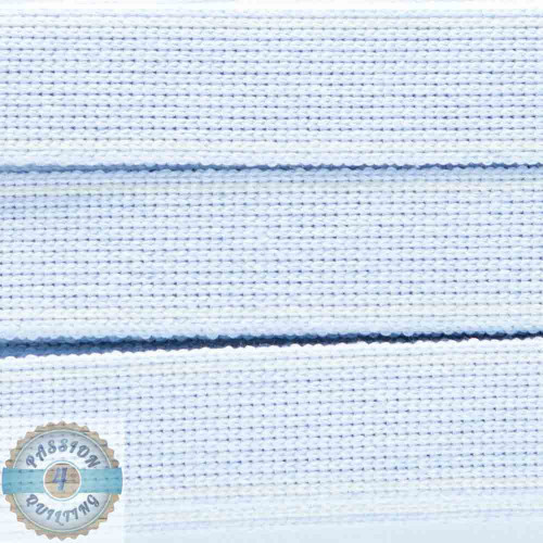 Soft Blue Cotton Blend Webbing. Per metre