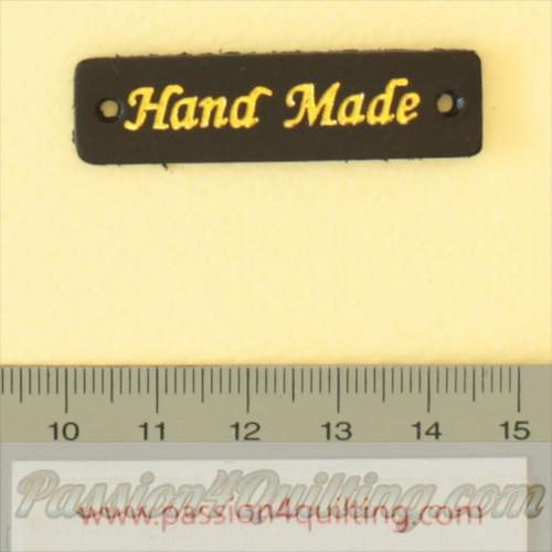 Handmade labels black leather