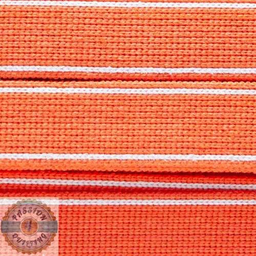 Satsuma Orange Cotton Blend Webbing. Per metre