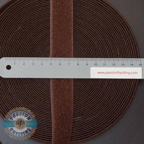 Velcro  Fastener Brown per 25cm