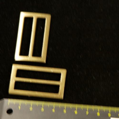 Antique Gold Slider 45 x 25 mm Pair
