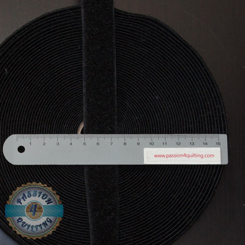 Velcro Fastener in Black 25cm