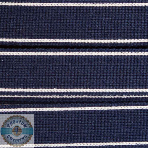 Navy Cotton Blend Webbing. Per metre