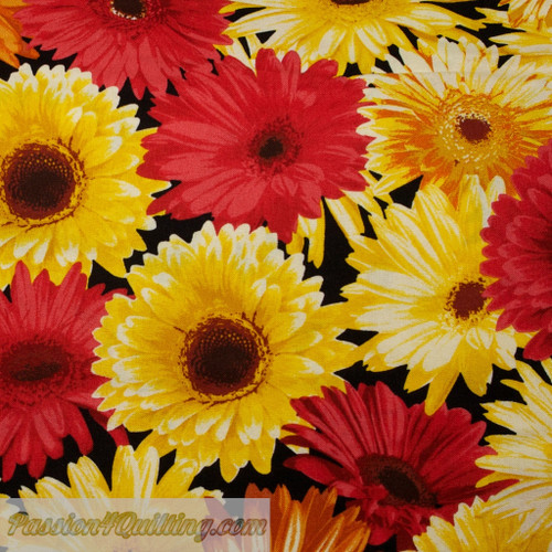 Garden party in yellow and red and orange per 25cm