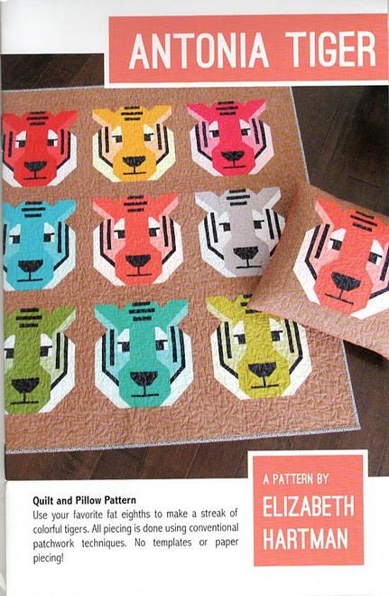 Antonia Tiger Quilt Pattern by Elizabeth Hartman.