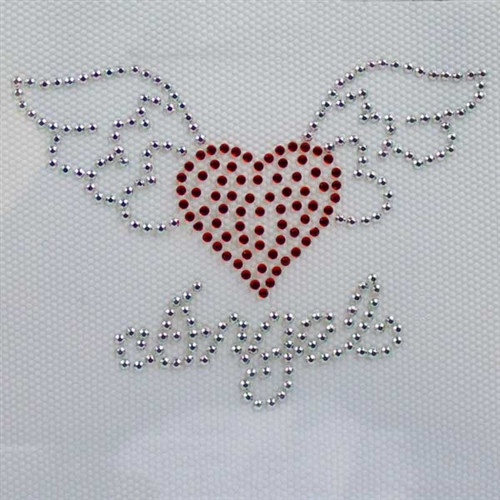 Hot fix Crystal Heart wings 006