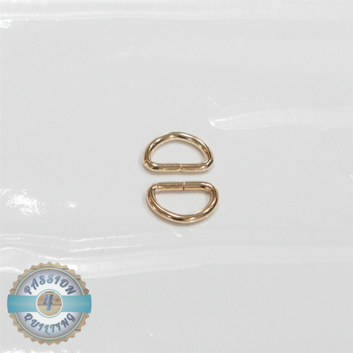 Gold D ring 19mm pair