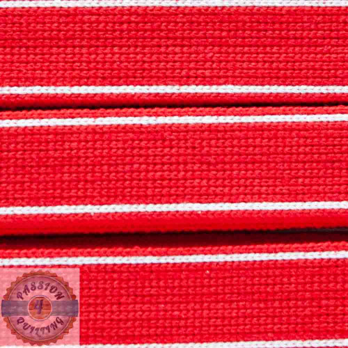 Red Cotton Blend Webbing. Per metre