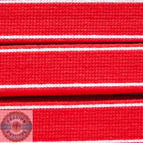 Red Cotton Blend Webbing. Per metre