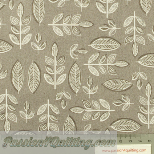 Sophia Leaf in grey per 25cm