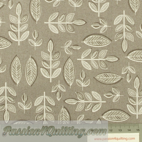 Sophia Leaf in grey per 25cm