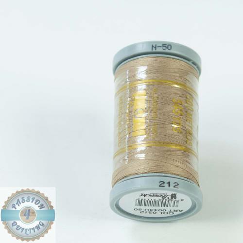 Presencia Cotton Quilting Thread 50wt 500m Colour 212 Light Brown