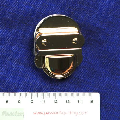 Tuck lock 35x28mm in silver