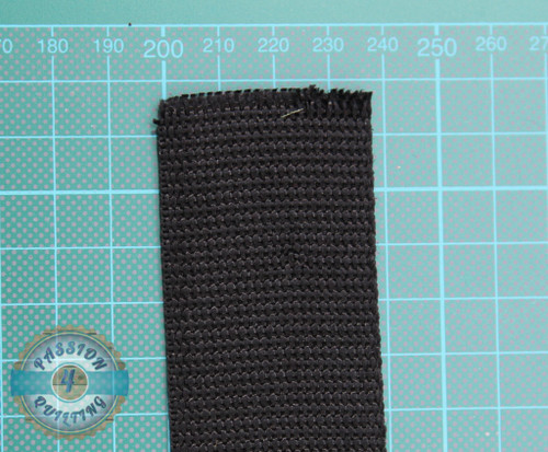 Webbing black. per metre