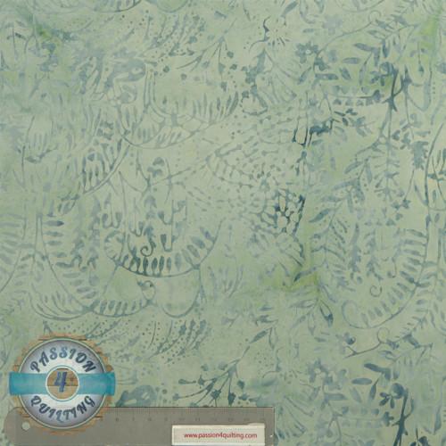 Batik grey floral per 25cm