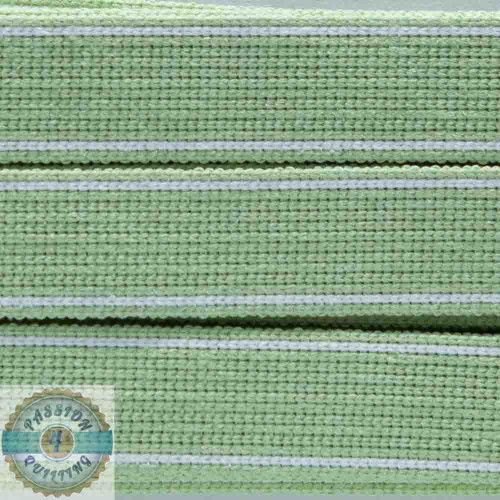 King Lime Cotton Blend Webbing. Per metre
