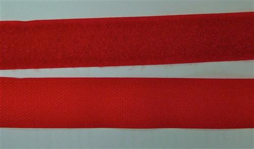 Velcro Fastener in Dark Red 25cm