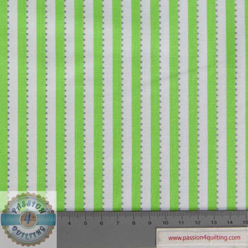 BC28-7 Anthology- Green Stripe  designed by Jacqueline de Jonge per 25cm
