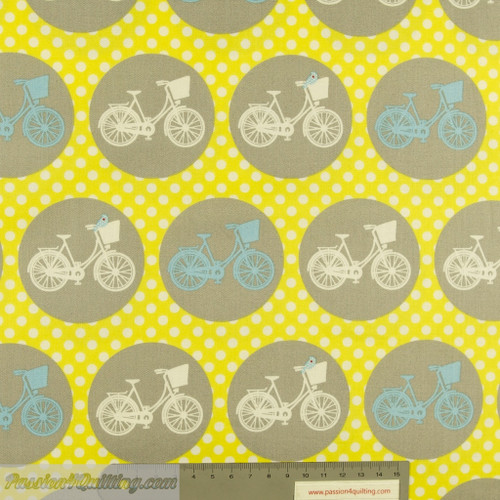 Bicycle wheels Whimsical yellow per25cm