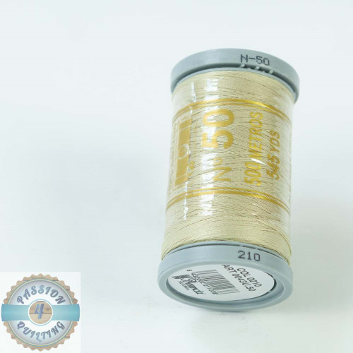 Presencia Cotton Quilting Thread 50wt 500m Colour 210 Stone